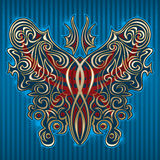 Butterfly. The stylized shape of a butterfly Stock Image