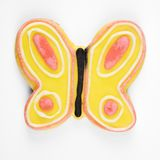 Butterfly sugar cookie. Royalty Free Stock Photography