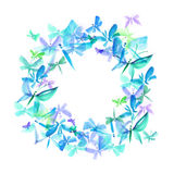 Butterfly summer wreath Royalty Free Stock Photo