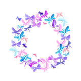 Butterfly summer wreath Stock Photos