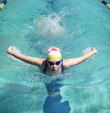 Butterfly swimmer Royalty Free Stock Photos