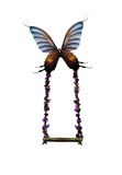 Butterfly Swing. A butterfly held swing created digitally to be used in art and designs Royalty Free Stock Photo