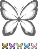 Butterfly symbol. Concise graphical representation of a butterfly, you can use the logo Stock Image