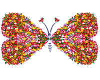 Butterfly,symbol of love, postcard Royalty Free Stock Photo