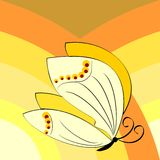 Butterfly symbol of spring Stock Image