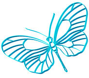 Butterfly symbol. For various design Royalty Free Stock Photos