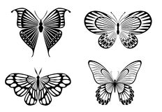 Butterfly symbols Royalty Free Stock Photography