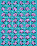 Butterfly Tablecloth Aqua. Rows of butterflies and circles fill image.  Sponged background adds texture to aqua coloring Stock Image