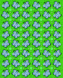 Butterfly Tablecloth Green. Rows of butterflies and circles fill image.  Sponged background adds texture to green coloring Royalty Free Stock Photography