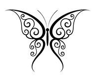 Butterfly tattoo. Abstract fantasy butterfly tattoo (Vector Royalty Free Stock Images