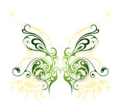 Butterfly tattoo. Artistic vector illustration with butterfly tattoo design Stock Photo