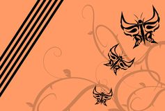 Butterfly tattoo background Royalty Free Stock Images