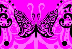 Butterfly tattoo background7 Stock Photos