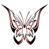 Butterfly tattoo design Stock Images