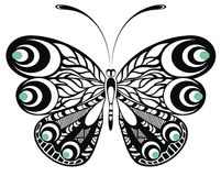 Butterfly. Tattoo design Stock Images