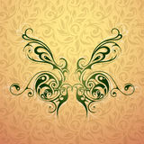 Butterfly tattoo shape Stock Photo