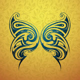 Butterfly tattoo shape Stock Image
