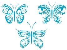 Butterfly tattoos stock images