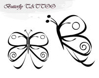 Butterfly tattoos Stock Photos