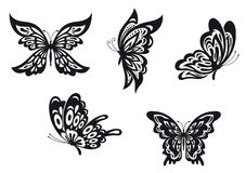 Butterfly tattoos Stock Photography