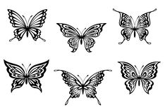 Butterfly tattoos Stock Photo