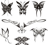 Butterfly Tattoos Set Royalty Free Stock Image