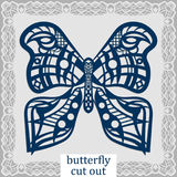 Butterfly - a template for laser cutting. Design element for a wedding, romantic meeting or greeting card.  Can be used as a decor Stock Images