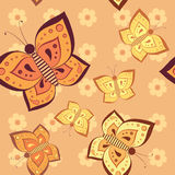 Butterfly tender seamless pattern Royalty Free Stock Photos