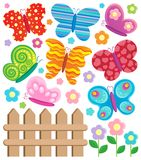 Butterfly theme collection Stock Image