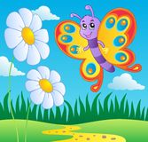 Butterfly theme image 2 royalty free illustration