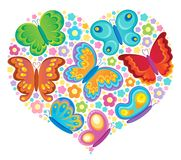 Butterfly theme image Stock Photography