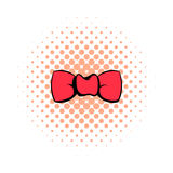 Butterfly tie comics icon Royalty Free Stock Image