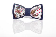 Butterfly tie with playing cards Stock Photography