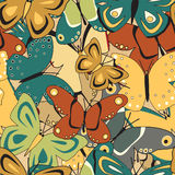 Butterfly tile Royalty Free Stock Image