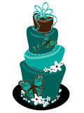 Butterfly Topsy Turvey Wedding Cake Royalty Free Stock Photo