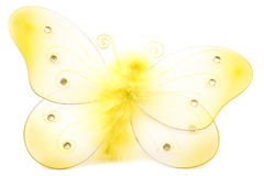 Butterfly toy. Isolated fluffy butterfly toy Stock Images