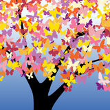 Butterfly tree Royalty Free Stock Photos