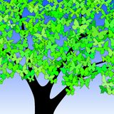 Butterfly tree Royalty Free Stock Images