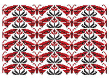 Butterfly ukrainian embroider texture Stock Image