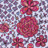 Butterfly unknown flower seamless pattern Stock Photography