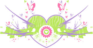 Butterfly Valentine Heart Royalty Free Stock Images