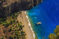 Butterfly Valley Aerial View Kelebekler Vadisi, Mugla, Turkey Royalty Free Stock Image
