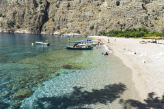 BUTTERFLY VALLEY BEACH, TURKEY - JUNE 01: Tourists visit famous Stock Image