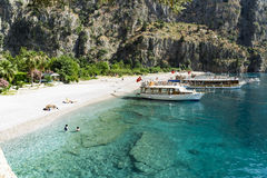 BUTTERFLY VALLEY BEACH, TURKEY - JUNE 01 Stock Photography