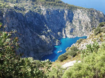 Butterfly valley deep gorge fethiye turkey Royalty Free Stock Image