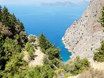 Butterfly valley deep gorge fethiye turkey Stock Photo