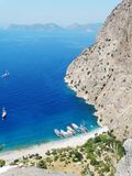 Butterfly valley deep gorge fethiye turkey Royalty Free Stock Photo