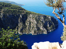 Butterfly valley deep gorge fethiye turkey. Butterfly valley high view canyon fethiye turkey Stock Photo