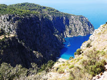 Butterfly valley deep gorge fethiye turkey Stock Images