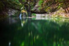 Butterfly Valley en naturreserv Rhodes ö Grekland royaltyfri fotografi